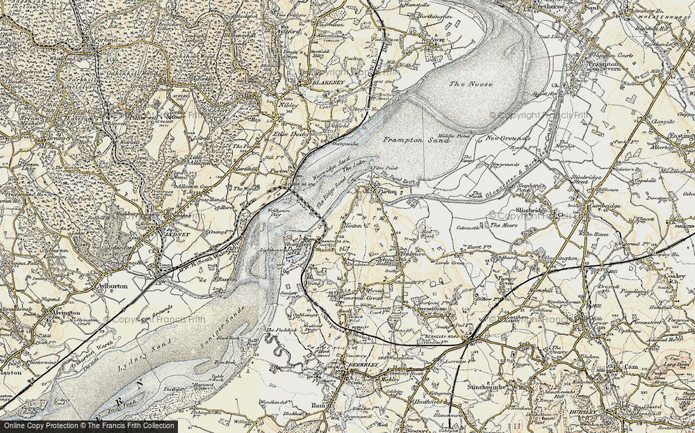 Old Map of Historic Map covering Tites Point in 1899-1900