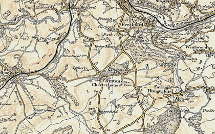 Old map of Hinton Charterhouse in 1898-1899