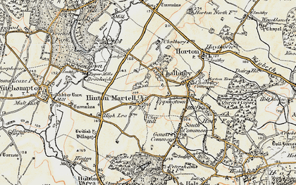 Old map of Hinton Martell in 1897-1909