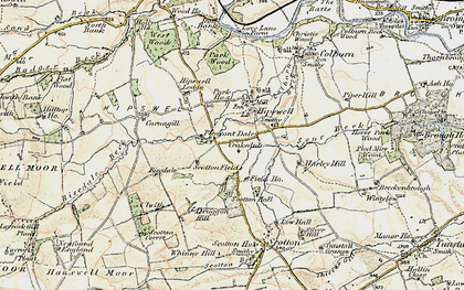 Old map of Hipswell in 1903-1904