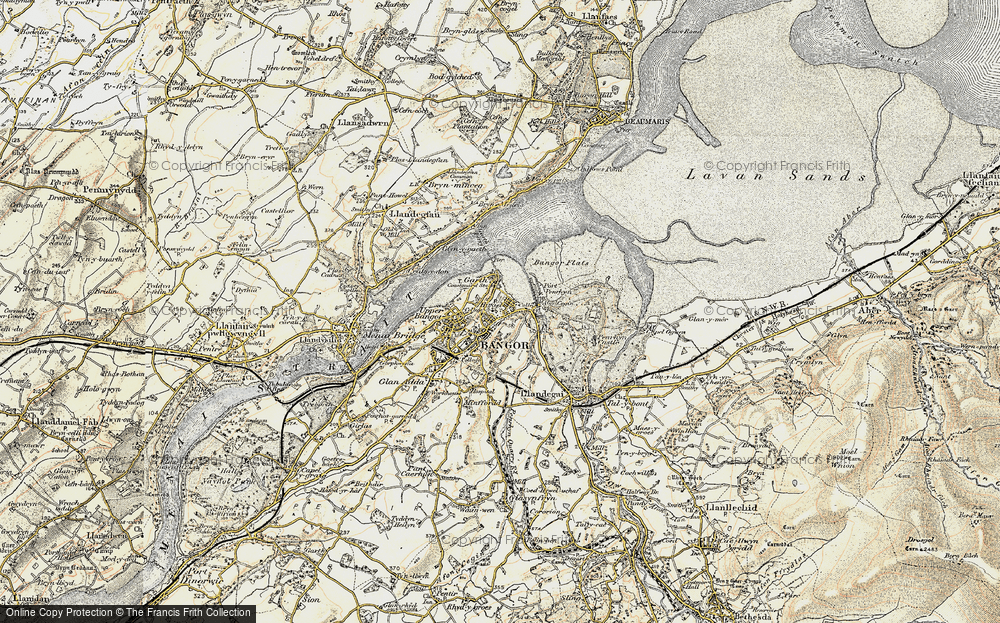 Old Map of Historic Map covering Abercegin in 1903-1910