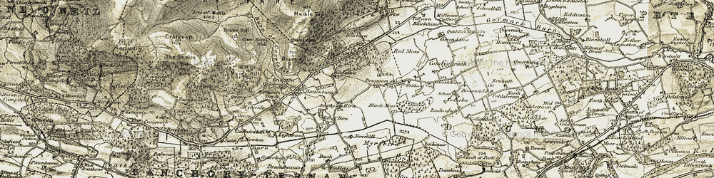 Old map of Lightwood in 1908-1909