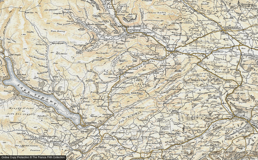 Old Map of Historic Map covering Bryn Coch in 1902-1903
