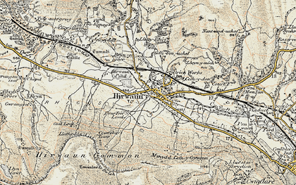 Old map of Hirwaun in 1899-1900