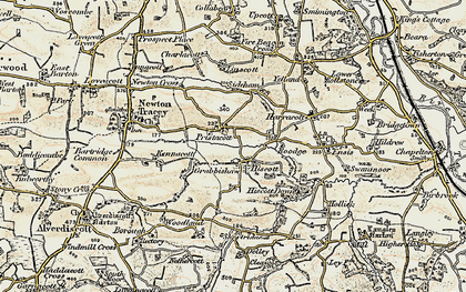 Old map of Linscott in 1900