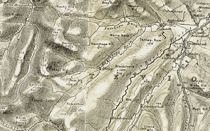 Old map of Todhill Rig in 1901-1904