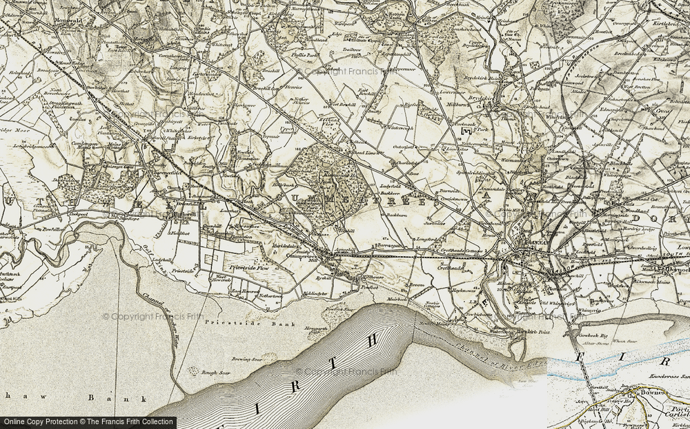 Old Map of Historic Map covering Backburn in 1901-1904