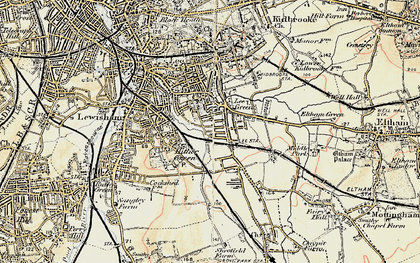 Old map of Hither Green in 1897-1902