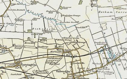Old map of Yokefleet Lodge in 1903