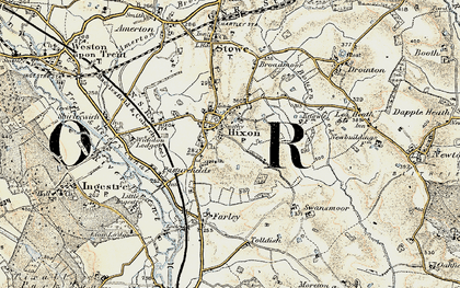 Old map of Hixon in 1902