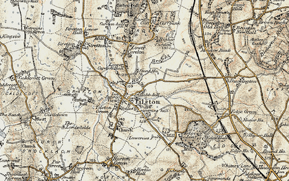 Old map of Hob Hill in 1902