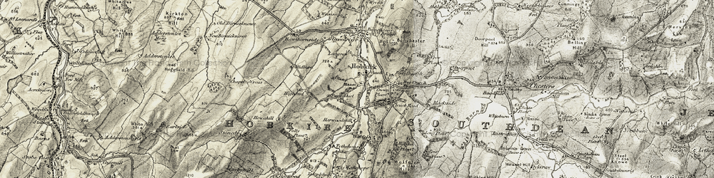 Old map of Wolfelee in 1901-1904