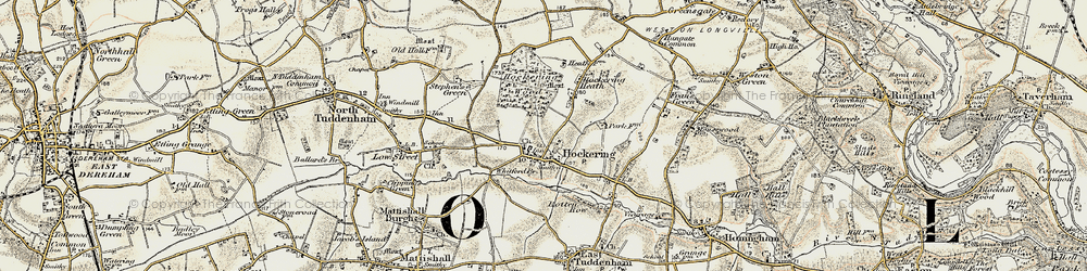 Old map of Whitford Br in 1901-1902