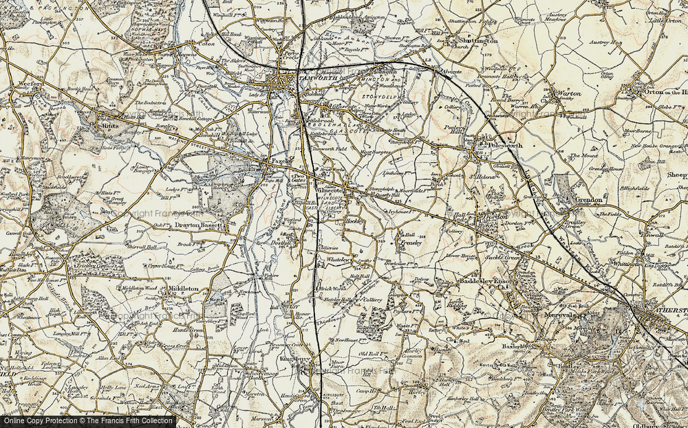 Old Map of Hockley, 1901-1902 in 1901-1902