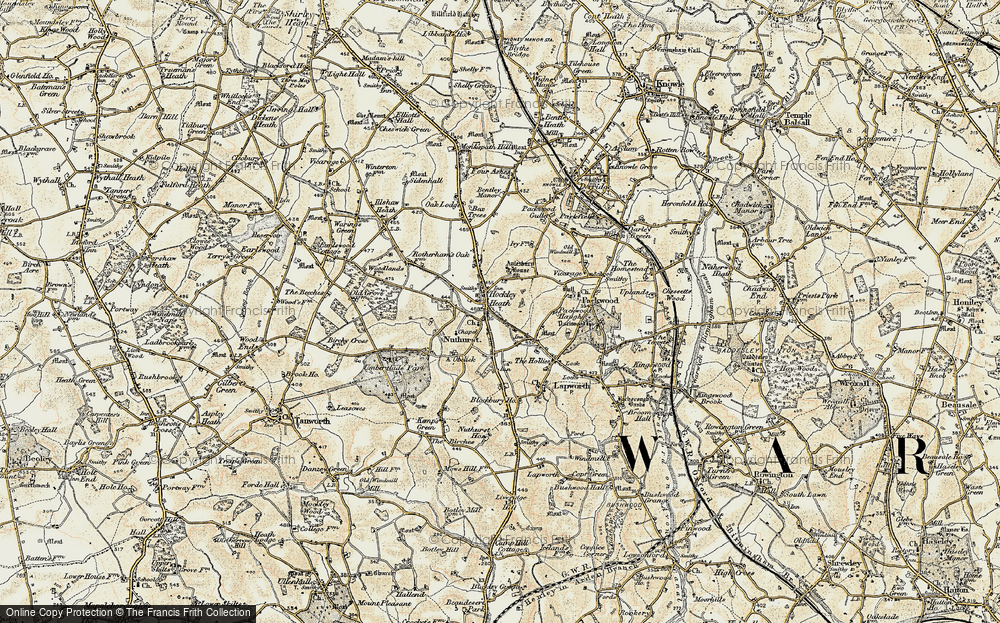 Old Map of Historic Map covering Aylesbury Ho (Hotel) in 1901-1902