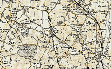 Old map of Aylesbury Ho (Hotel) in 1901-1902