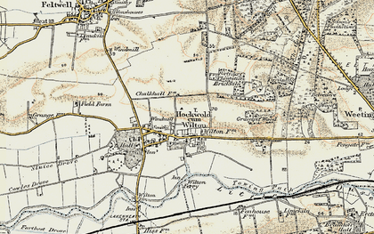 Old map of Wilton Br in 1901