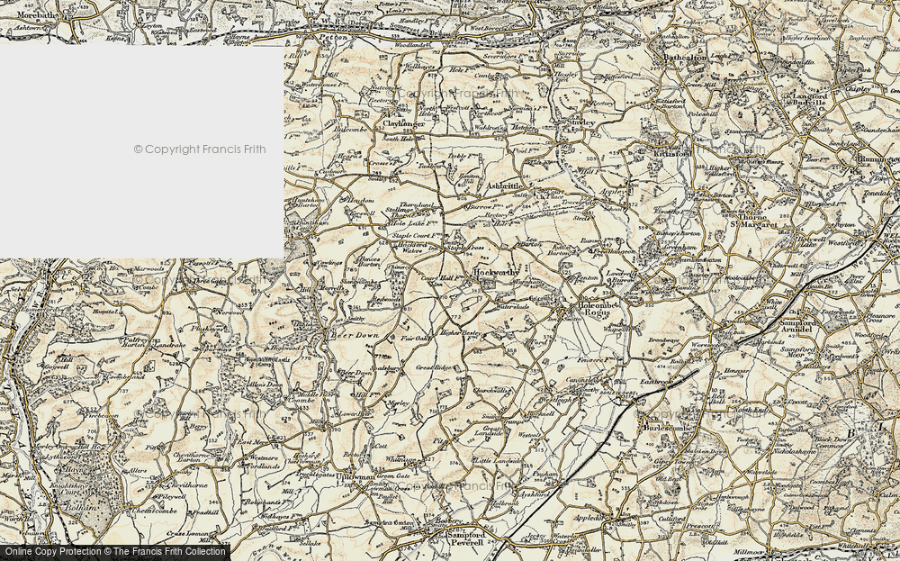 Old Map of Hockworthy, 1898-1900 in 1898-1900