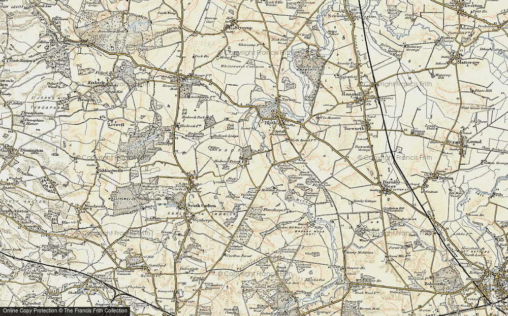 Old Map of Historic Map covering Ash Holt in 1902-1903