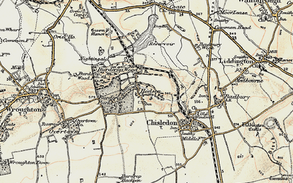 Old map of Hodson in 1897-1899