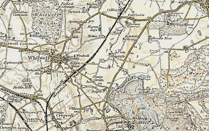 Old map of Hodthorpe in 1902-1903