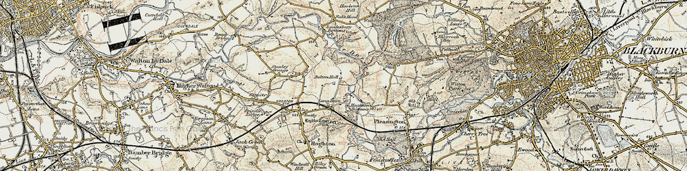 Old map of Woodcock Hill in 1903