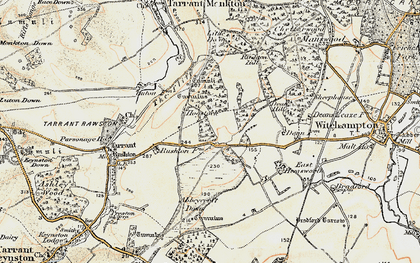 Old map of Abbeycroft Down in 1897-1909