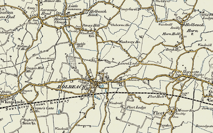 Old map of Holbeach in 1901-1902