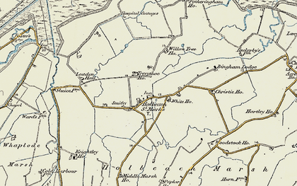 Old map of Leaden Hall in 1901-1902