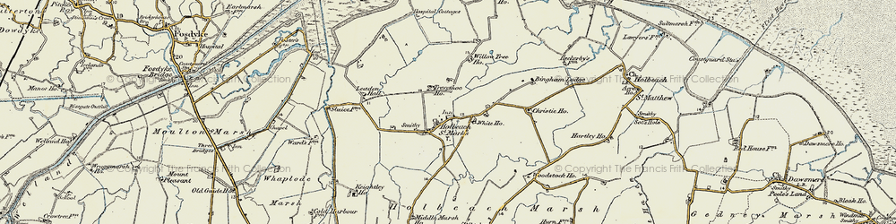 Old map of Willow Tree Ho in 1901-1902