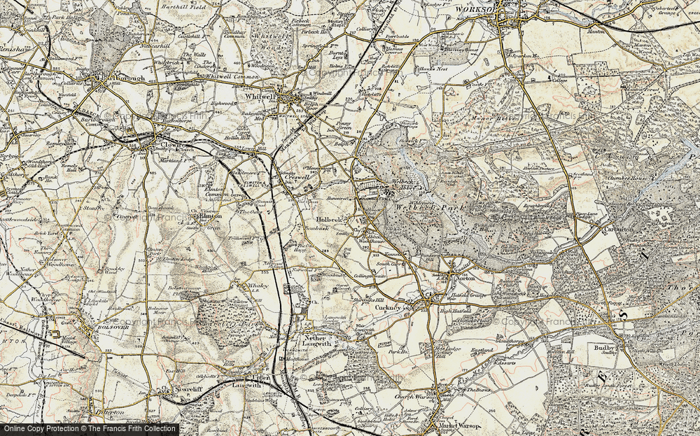 Old Map of Historic Map covering Woodhouse Hall in 1902-1903
