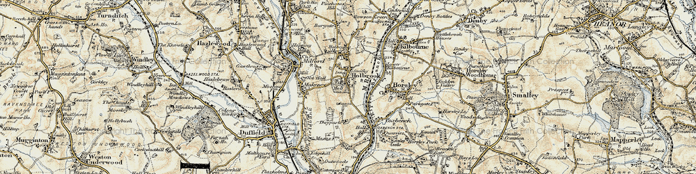 Old map of Holbrook in 1902-1903