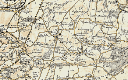 Old map of Holcombe in 1899