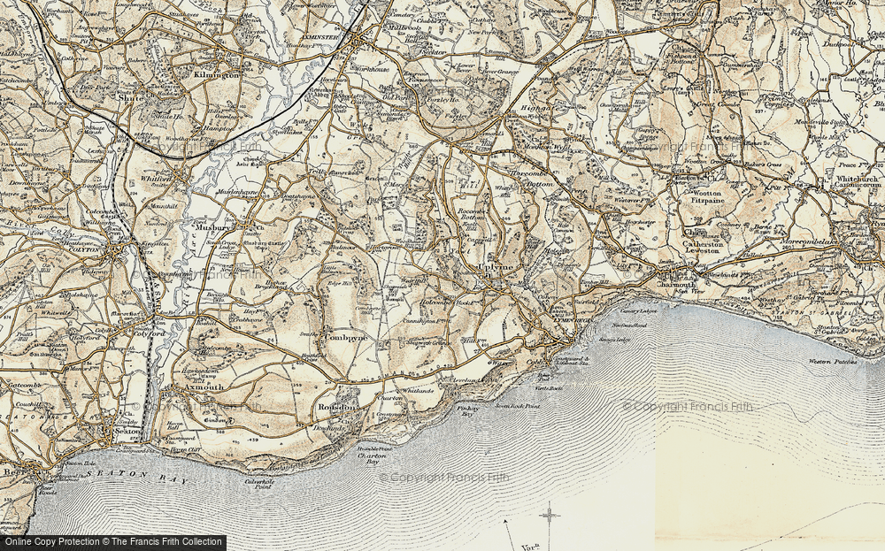 Old Map of Historic Map covering Woodhouse in 1899
