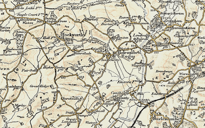 Old map of Holcombe Rogus in 1898-1900