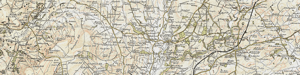 Old map of Wycongill in 1903-1904
