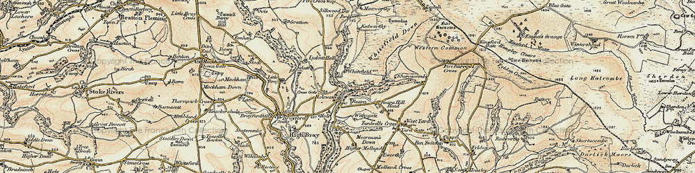 Old map of Withygate in 1900