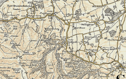 Old map of Holford in 1898-1900
