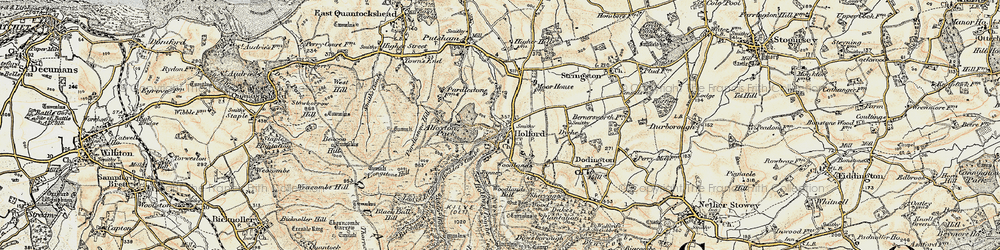 Old map of Woodlands Hill in 1898-1900