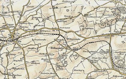 Old map of Anvil Corner in 1900