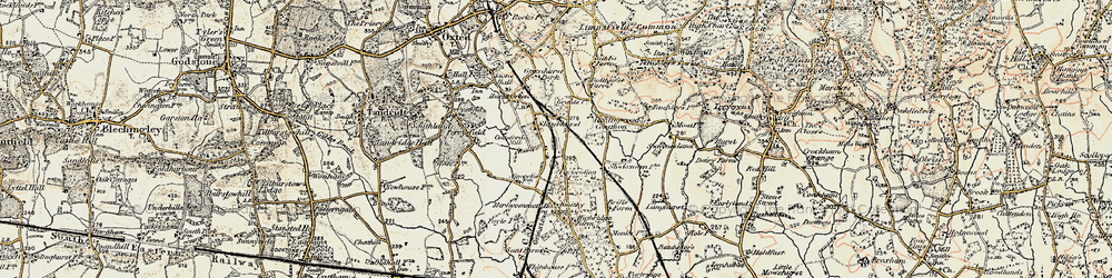 Old map of Holland in 1898-1902