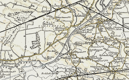 Old map of Hollinfare in 1903