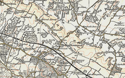 Old map of White Post in 1897-1898