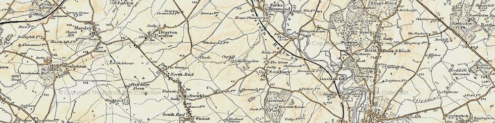 Old map of Winscott in 1898