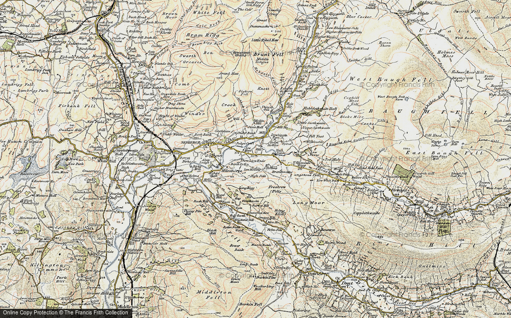 Old Map of Historic Map covering Thursgill in 1903-1904