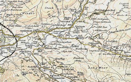 Old map of Thursgill in 1903-1904