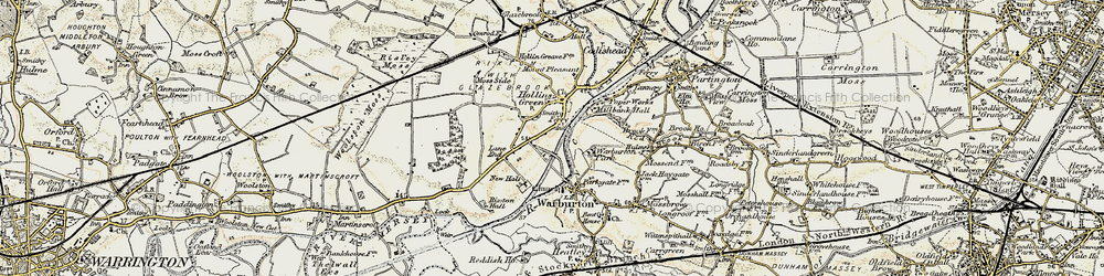 Old map of Hollins Green in 1903