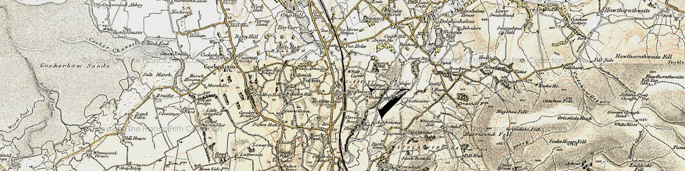 Old map of White Carr in 1903-1904