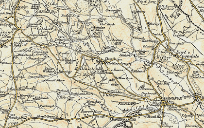 Old map of Fawside Edge in 1902-1903