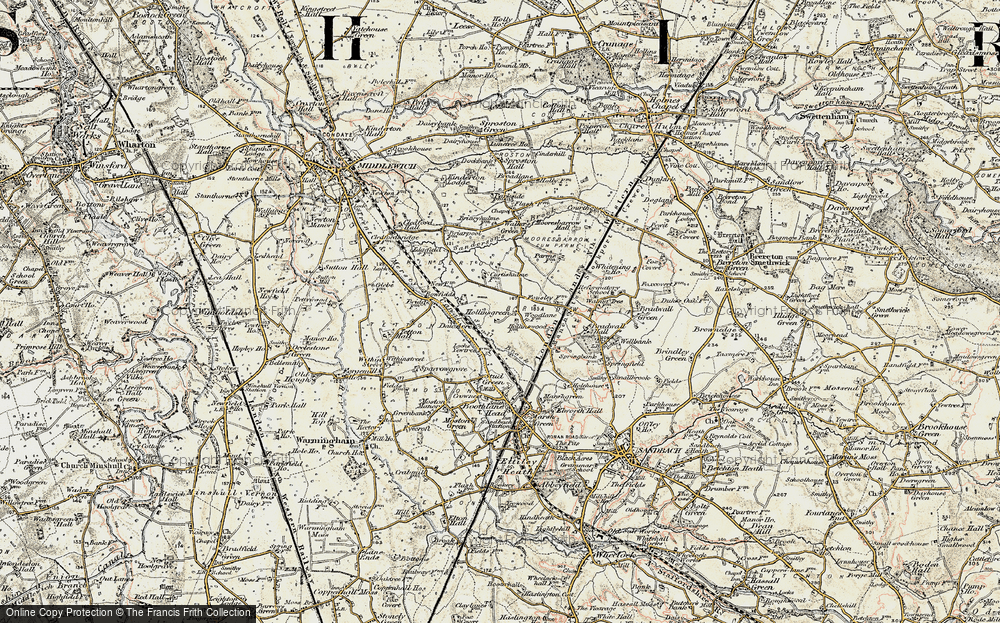 Old Map of Hollinsgreen, 1902-1903 in 1902-1903